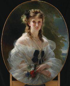 Franz Xaver Winterhalter (1806-1873) : Portrait de la duchesse de Morny, née princesse Troubetzkoï.