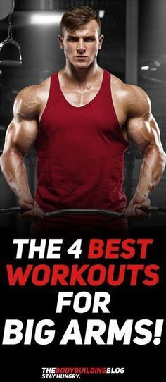 Check out The 4 Best Workouts for Big Arms! #fitness #gym #exercise #workout