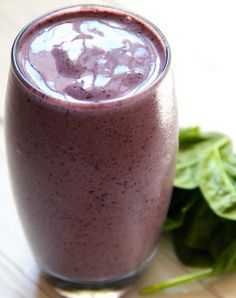 Green Smoothies to Lose Weight - Blueberry Spinach Smoothie