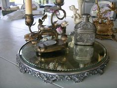 Victorian mirrored plateaus...more and more difficult to find....and afford!