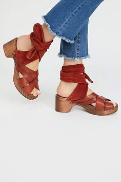Emmy Wrap Clog by FP Collection at Free People Clogs e3bc464e9c1
