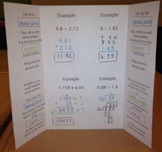 All operation decimal foldable