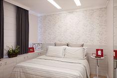 quarto de casal com papel de parede - Pesquisa Google
