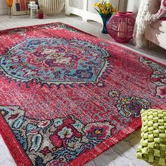 Prismatic Quartz Pink Traditional Rug. Order online today to get an extra 5% off. Use promo FB05. Offer ends Monday 14th Nov. 2016. #traditionalrugs #rugsonsale #rugsale #pinkrugs