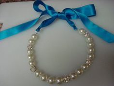 DIY pearl and ribbon necklace! Love love love these! I must make one!