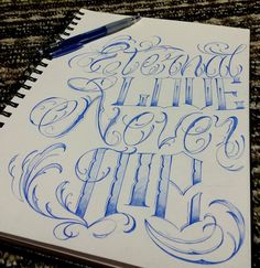 Chronic Ink Tattoo - Toronto Tattoo Custom lettering sketch done by Steve Chen.