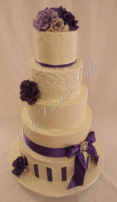 """""""Elegance"""" ~ purple sugar roses, hand molding and piping ~ all edible"""