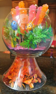 Candy Table Centerpiece, Finding Dory Birthday Party Ideas   Pretty My Party