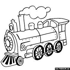 Steam Locomotive Train Coloring Page
