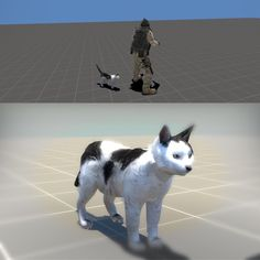 I made an animated model of a cat for Counter-Strike Global Offensive, working now on a feature to make him chase the #csgochicken Go Counter-Cat! 🐓 #csgo #globaloffensive #3d #sourcesdk