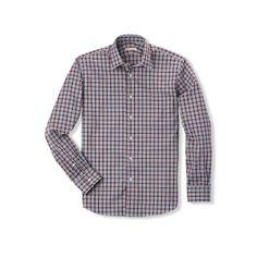 New England Shirt Company Blue Currant Tartan Oxford