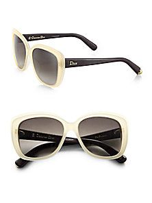 Dior - Oversized Square Frosted Sunglasses