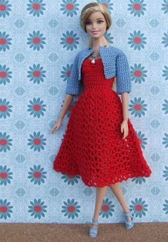 Irresistible Crochet a Doll Ideas. Radiant Crochet a Doll Ideas. Barbie Clothes Patterns, Crochet Barbie Clothes, Clothing Patterns, Dress Patterns, Sewing Patterns, Fashion Dolls, Fashion Outfits, Fashion Clothes, Crochet Doll Dress