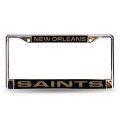 NFL New Orleans Saints Laser Chrome Frame, Silver