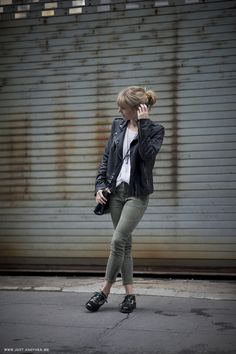 Instant Edge With Leather Jackets by @Lisa Phillips-Barton dengler on @Rebecca Leckman Alexander http://shar.es/SUFns