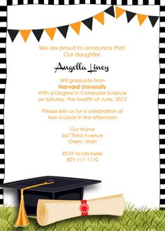 Printable Graduation Announcement Invitation Yep Im Already - Party invitation template: graduation party invitation postcard templates free