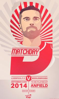 Capital One Cup v Middlesborough Football Design, Sport Football, Uefa Super Cup, Fc Liverpool, European Cup, Soccer Match, Middlesbrough, Fa Cup, Design Inspiration