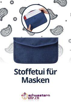 Praktisches Stoffetui für Hygiene- und Stoffmasken  Mit diesem Etui können Sie bis zu 10 Masken hygienisch und sauber in Ihrer Handtasche verstauen.  2 zusätzliche Fächer auf der Rückseite dienen als weitere Verstaumöglichkeit.  Jetzt bei schwesternuhr.ch bestellen! - Ohne Versandkosten. Schweizer Unternehmen.  #schwesternuhrch #schwesternuhr #maske #hygienemaske #stoffmaske #mundschutz Fanny Pack, Bags, Comfortable Work Shoes, Funny Hoodies, Protective Mask, Swiss Guard, Business, Masks, Hang In There