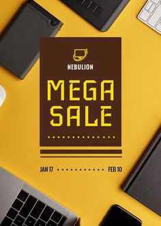 Gadgets Sale Digital Devices on Table — Create a Design Edit Online, Marketing Materials, Flyer Design, Ecommerce, Create Yourself, Gadgets, Templates, Digital, Table