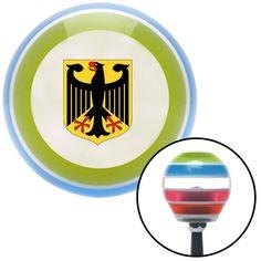 Deutschland Eagle Crest Stripe Shift Knob with M16 x 15 Insert