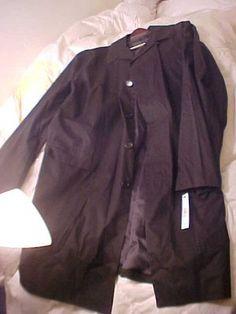 Donna Karan Signature XL Black Trench Coat Style New NWT