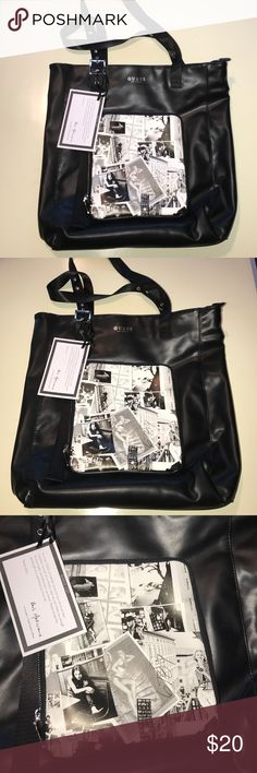 """Large black GUESS tote NWT About 14"""" x 16"""". Comes with bag. New with tags. Never been worn. Ships fast. Comes from smoke and pet free home. Guess Bags Totes"""