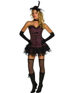 Maybe go as a saloon girl this year? | Ohh La La Saloon Girl Adult Womens Costume – Spirit Halloween