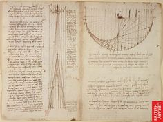 Leonardo da Vinci's notebook: Studies of reflections from concave mirrors