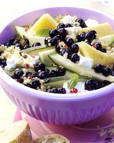 Quinoa-Salat mit fruchtigen Blaubeeren! Aufgetischt lecker yummi EuropaPassage EuropaPassageHamburg