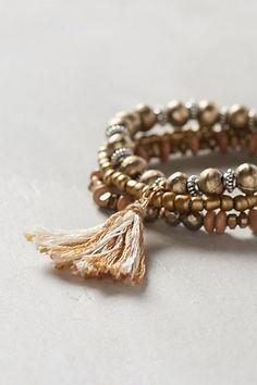 Tasseled Bracelet Set - anthropologie.com. diy inspiration
