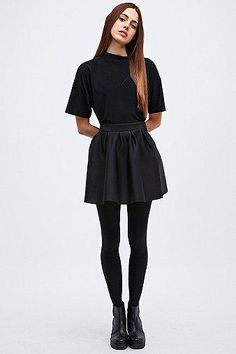 Go dark! Mini Skirt in Black by Urban Outfitters #miniskirt #women #covetme #cooperativebyurbanoutfitters #black #dark