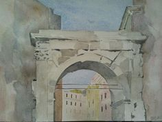 Arco di Gallieno www.watercoloursundayman.blogspot.com