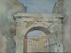 Arco di Gallieno www.watercoloursundayman.blogspot.com