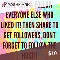 Follow Game! Hey Dolls! 💋 Let's gain some followers and revamp our closets! Share and follow one another! Makeup