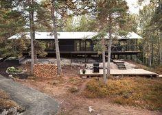 Single Story Summer Season House Overlooks Forested Gorge In Sweden | Decor Advisor