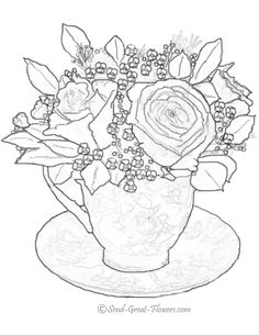 Favorite Roses Coloring Book