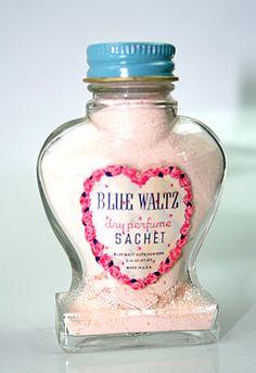 Vintage Blue Waltz Perfume Sachet, Very Nostalgic. Blue Waltze waas the favorite dime store perfume.