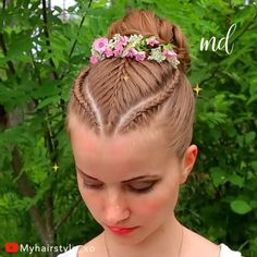 Such an adorable updo, perfect for long hair! By: Such an adorable updo, perfect for long hair! Kids Updo Hairstyles, Braided Bun Hairstyles, Little Girl Hairstyles, Hairstyle For Kids, Female Hairstyles, Hairstyle Men, Style Hairstyle, Hairstyles 2018, Medium Hairstyles