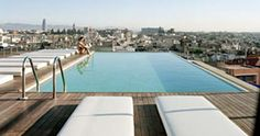 Jump into Grand Hotel Central's rooftop pool http://www.trendy-hotels.nl/Barcelona/Hotels/Grand-Hotel-Central-Barcelona