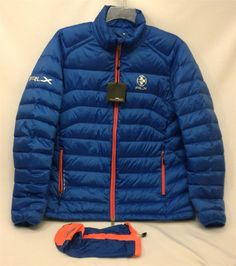 NWT Men's Large RLX Ralph Lauren Blue Down Lightweight Packable Explorer Jacket #RLXRalphLauren #PufferPackable