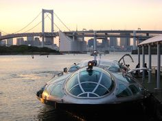 HIMIKO — COOLEST BOAT IN TOKYO    You've got to take this boat at least once. It cruises between Toyosu, Asakusa and Odaiba.           Photo By: http://www.flickr.com/photos/melanie-m/