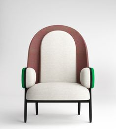 'MOON-B', a Contemporary Armchair with a Vintage Twist in Limited Edition 1 Einrichtungsstil Charles Kalpakian Armchair - 'Moon-B Vintage Twist French Contemporary Fabric, Foam, Beech