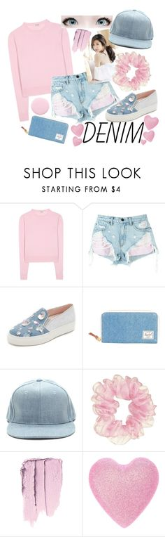 """Ulzzang Denim Style"" by summersunflower7 ❤ liked on Polyvore featuring Miu Miu, Alexander Wang, Minna Parikka, Herschel Supply Co. and Nails Inc."