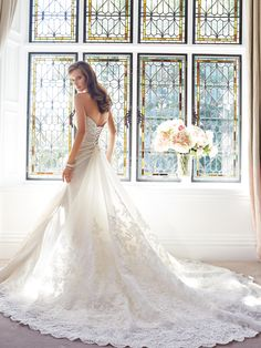 There are so many gorgeous wedding dresses from Sophia Tolli Fall Collection.