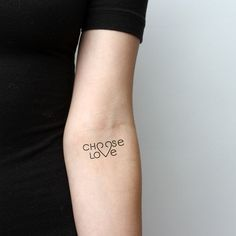 Choose Love Temporary Tattoo