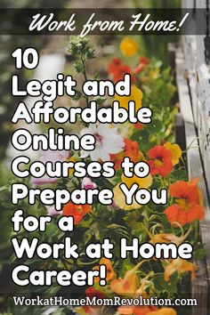 WorkatHomeMomRevolution.com Work from Home! 10 Legit and Affordable Online Courses to Prepare You for a Work at Home Career! #workathome #workfromhome #jobs #moms #momlife #workathomemoms #workathomejobs #workfromhomejobs Work From Home Moms, Make Money From Home, I 9, Job Posting, Money Tips, Online Courses, Career, Carrera, Making Money At Home