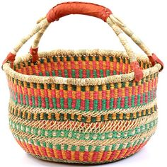 A Ghana Bolga basket is so colorful and would have the pliability of fabric