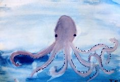 Painting (4th) - Norse Myths. X likes the squid.