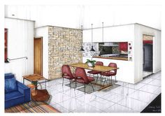 Landscape Architecture Design Theory And Methods her Landscape Architecture Design Guidelines beneath Landscape Design Architects Near Me Interior Design Renderings, Drawing Interior, Interior Rendering, Interior Sketch, Croquis Architecture, Plans Architecture, Landscape Architecture Design, Interior Architecture, Rendering Architecture