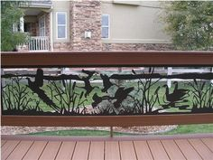 Custom Ornamental Wrought Iron Deck Railings and Spiral Stairs